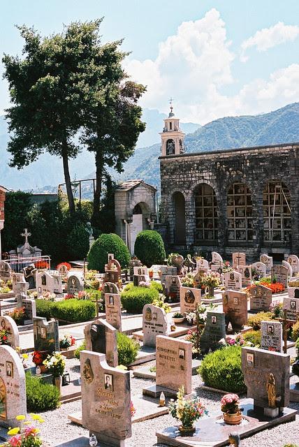 Cemetery in Lenno, Italy