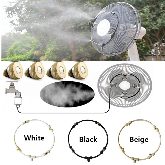 Best Offer Garden Spray Portable Mist fan ring Kit water Sprayer mist fog machine fan ring cooling system