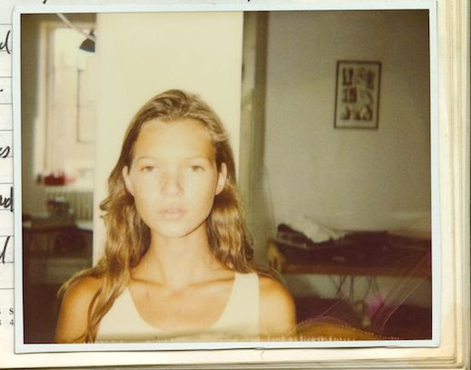 Le Fashion Blog Model Style Kate Moss Long Blonde Wavy Hair White Tank Via Nowness