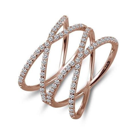 Lafonn Rose Gold Plated Sterling Silver .92cttw Double