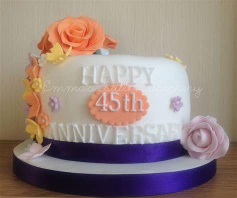 45th Sapphire Wedding Anniversary Cake   My cake creations