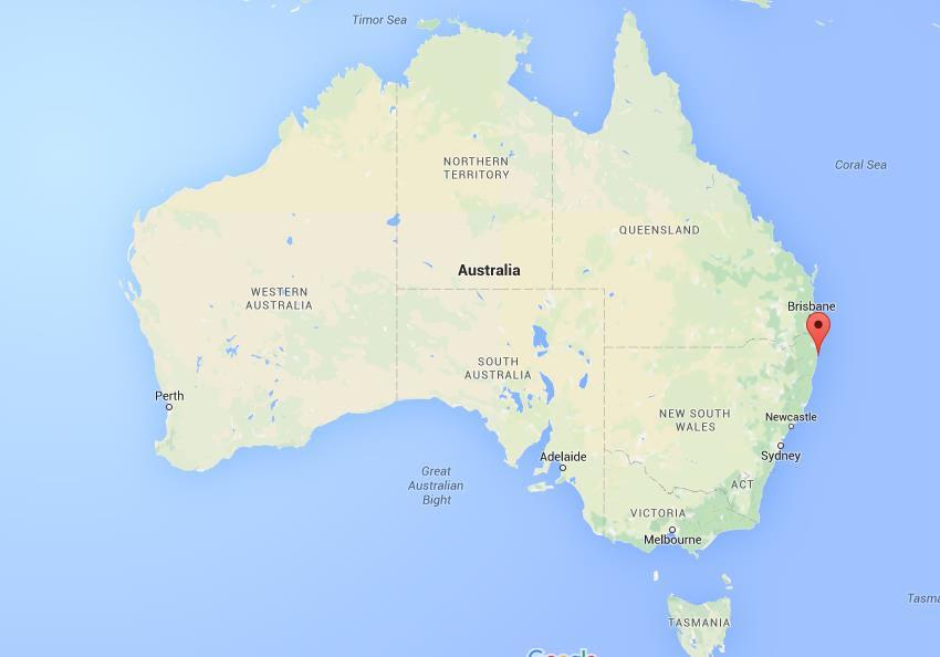 Where is Yamba on map Australia
