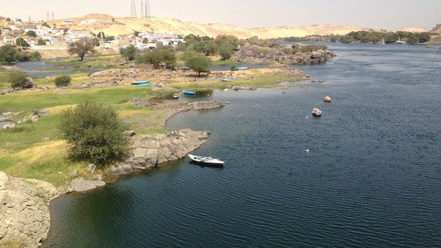 The River Nile at Aswan