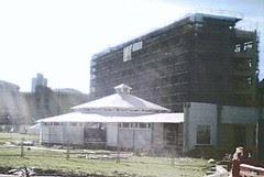 Waitangi Park - the Festival Club nearing completion