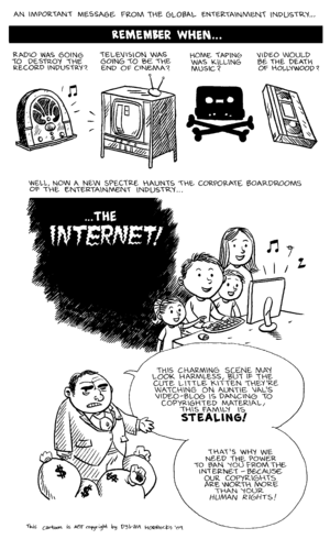Cartoon about copyright and the internet made ...