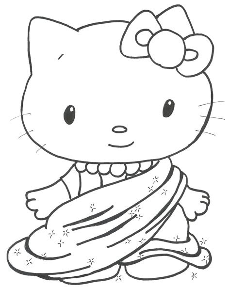 wedding world cute kitten coloring pages