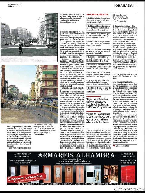 Reportaje sobre los nombres de las calles de Granada