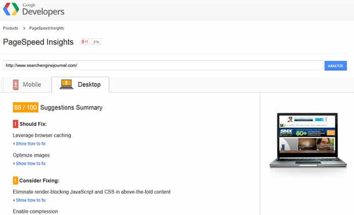 developers2 قياس سرعة الموقع من جوجل