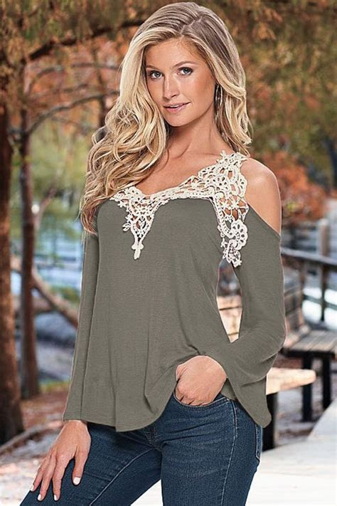 shoulder gray women   tops  store