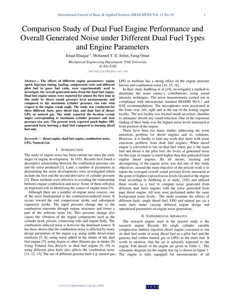 (PDF) Comparison Study of Dual Fuel Engine Performance and