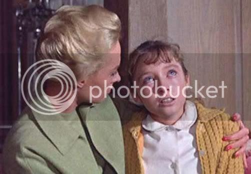 Tippi Hedren consoling Veronica Cartwright