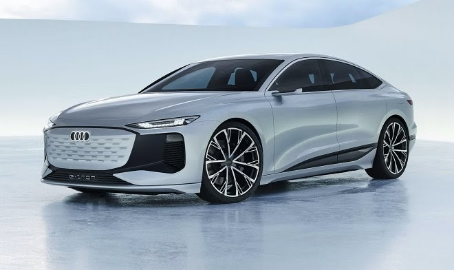 Концепт Audi A6 e-tron может проецировать видеоигры с помощью собственных фар