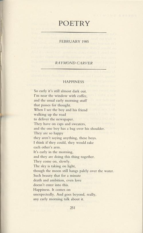 Tagores Soul And Raymond Carvers Happiness By Lindsay Garbutt
