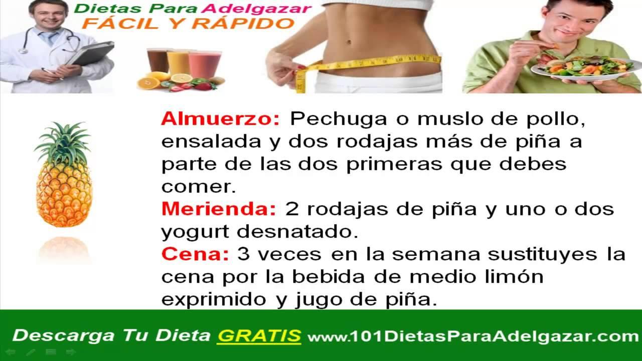 dieta facil y rapida para bajar de peso