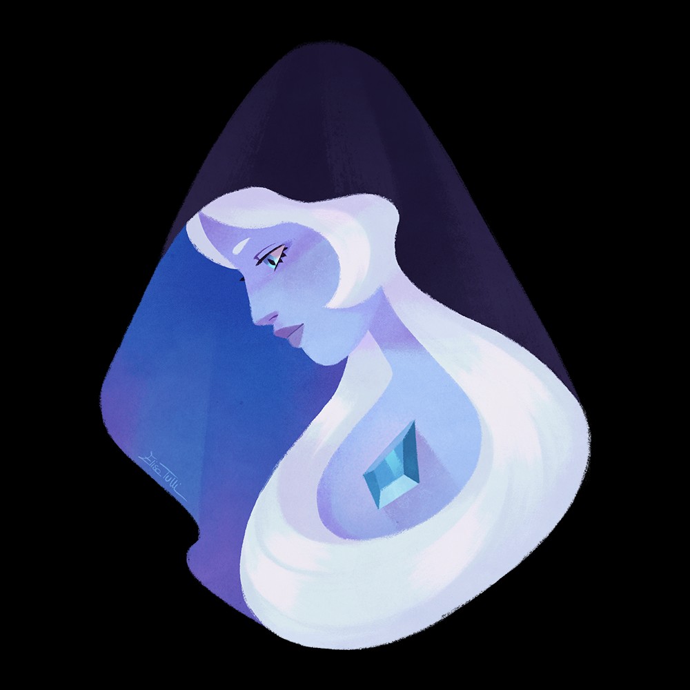 Blue Diamond, 'cause yes, she's my favourite so far. 💙 Also, trying to get comfortable with my new set of brushes!