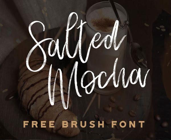 Salado Mocha gratuito Brush Fuente