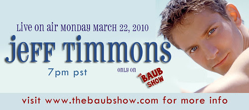 Jeff Timmons from 98 Degrees is coming to The Baub Show! by  TheBaubShow.