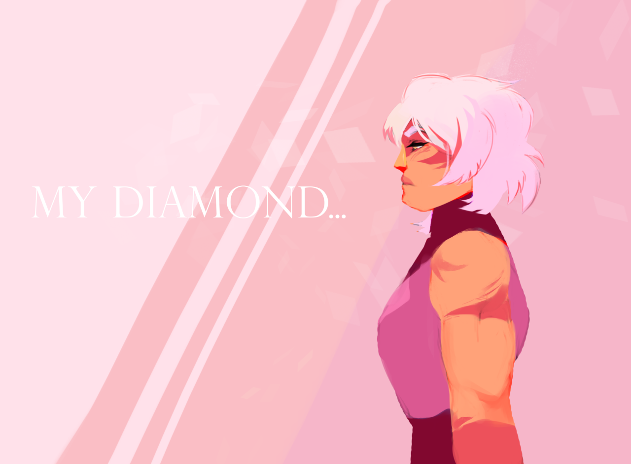 Wanted to draw Jasper that serves Pink Diamond really bad.