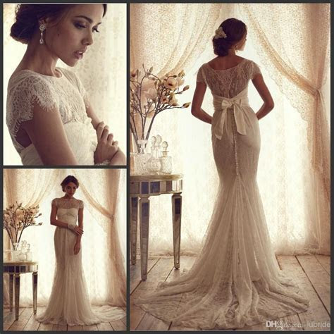 Vintage Lace Luxury Trumpet Wedding Dresses 2015 New Cheap