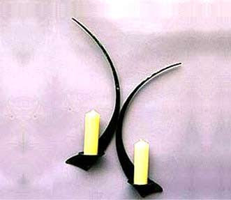 Iron Candle Sconce - Candle Wall Sconce and Iron Wall Sconce
