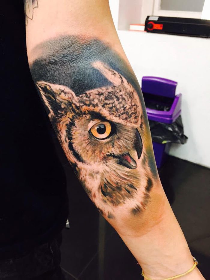 Realistic Owl Tattoo Best Tattoo Design Ideas