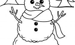 Anasınıfı Için Kış Mevsimi Kardan Adam Boyama Sayfası