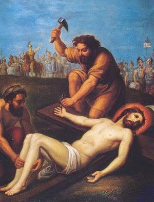 Decima Stazione Gesù è crocifisso