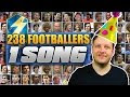 238 Football Players - 1 Song! Ed Sheeran Shape of you Footballers Subscriber Funny cover remix