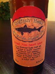 Dogfish Head 90 Minute IPA Label