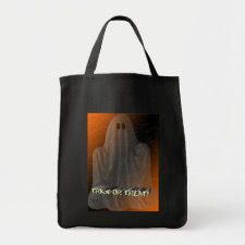 Ghostly Trick or Treat Canvas Bag bag
