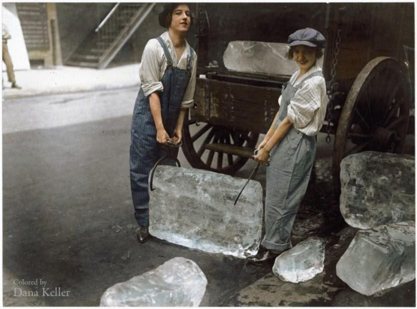 Meninas entregando gelo, 1918