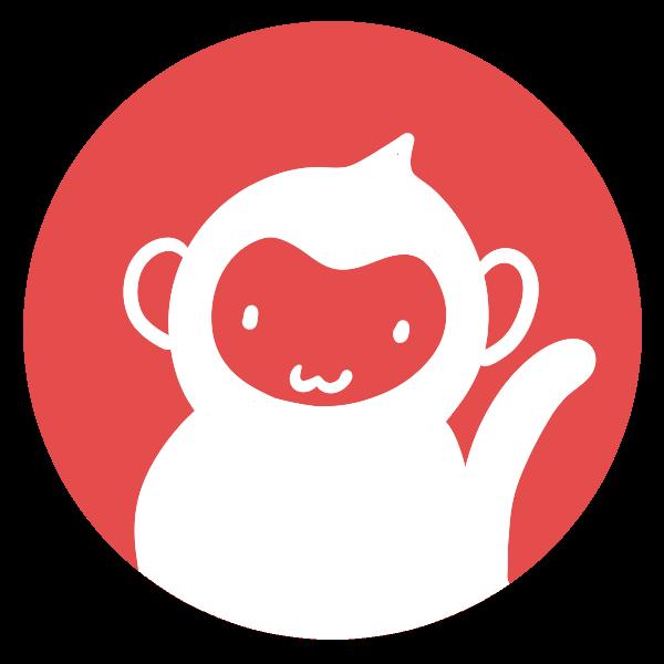猿のはんこ丸のイラスト かわいいフリー素材が無料のイラストレイン