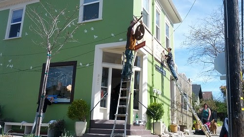 Painting the shop!