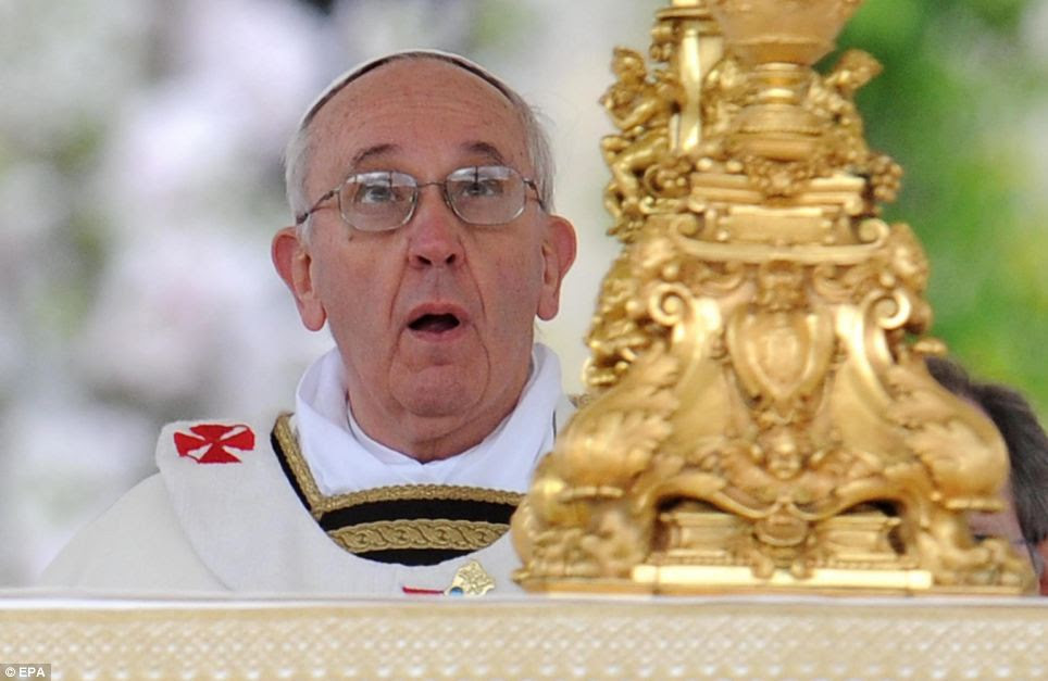 Mass: Pope Francis presided over Easter Sunday Mass before 250,000 people in St Peter's Square