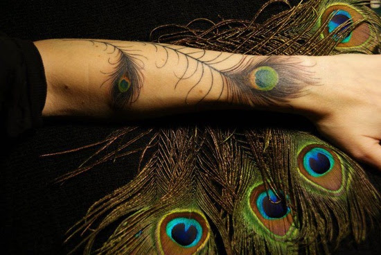 Peacock Feather Tattoo On Wrist Photo 6 2017 Real Photo Pictures