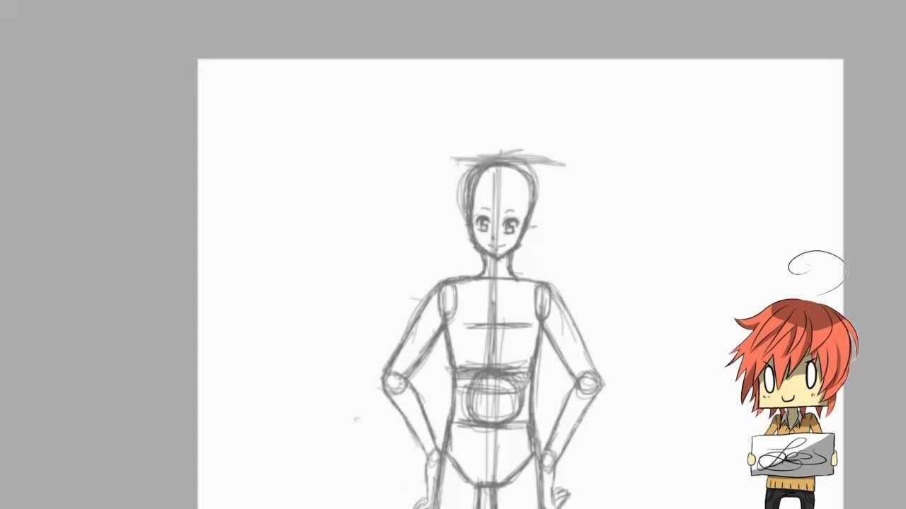 Manga zeichnen lernen Basic Körper - YouTube