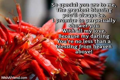 So Special You Are To Me Romantic Poem