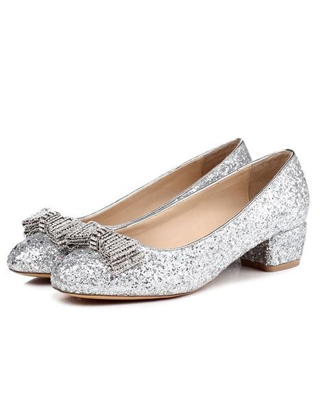 comfortable  heel flat wedding shoes  sparkly bow