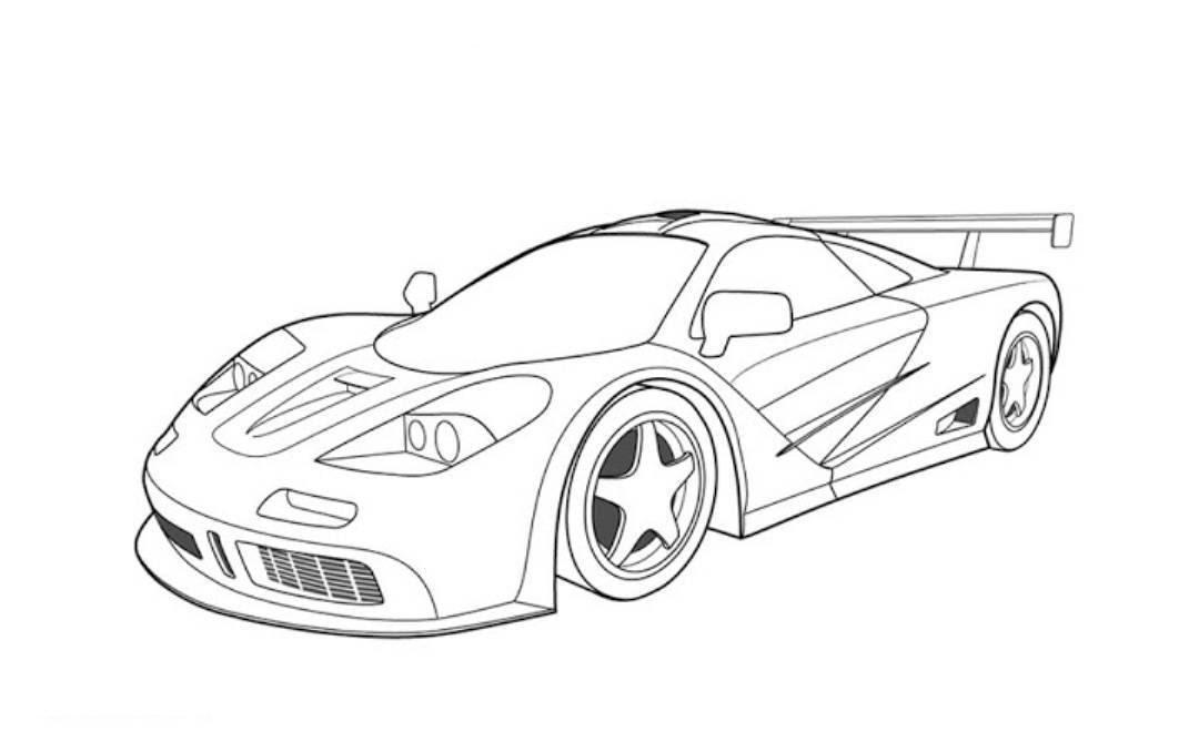 Race Car Coloring Pages For Kids  AZ Coloring Pages