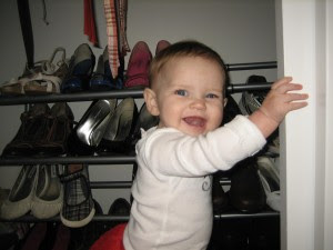 found mommy's shoes! She had fun playing in my closet today