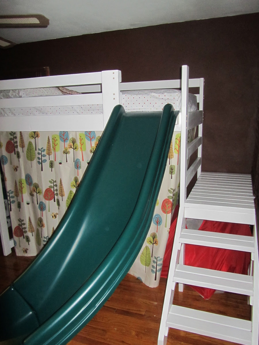 Camp Loft Bed with Stairs, Slide and Fort | Do It Yourself Home ...