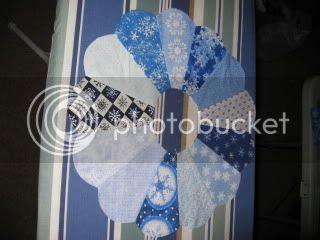 Snowflake Print Dresden Plate