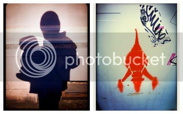 Schatten und Streetart