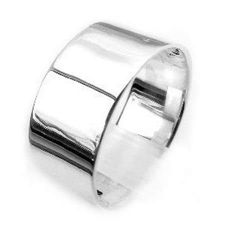Silver Insanity   Mens Large Sterling Silver 10mm Wide