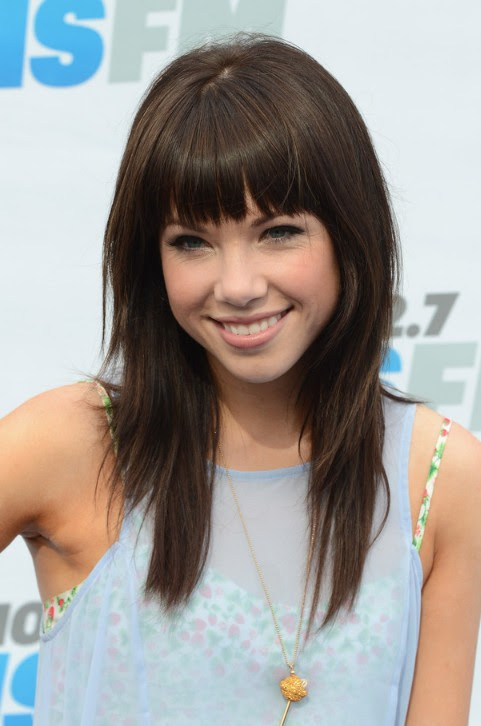 Cute Layered Long  Hairstyle  with Blunt Bangs  Hairstyles