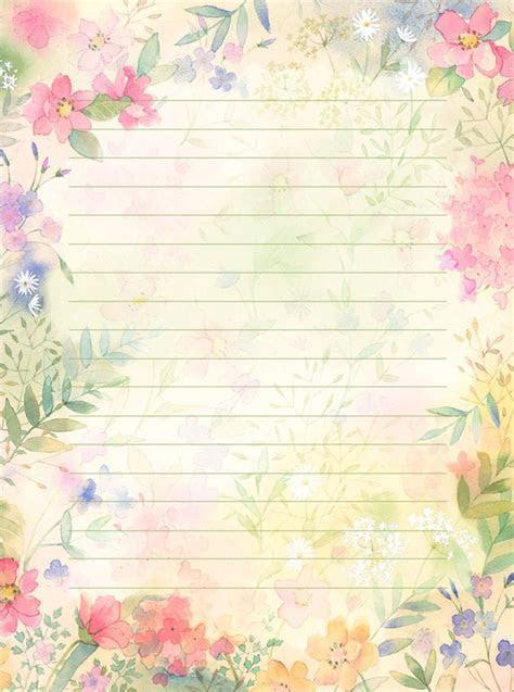 Resultado de imagen para hojas bonitas para escribir una