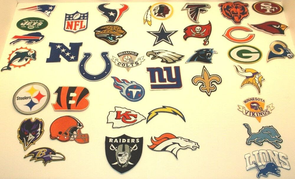 National Football League Patch Patches~Embroidered~Iron Sew~NFL~Ships FREE~BULK  eBay