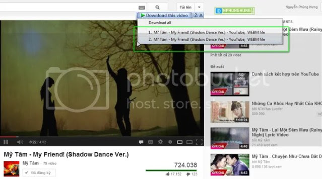 Download video from youtube HTML5
