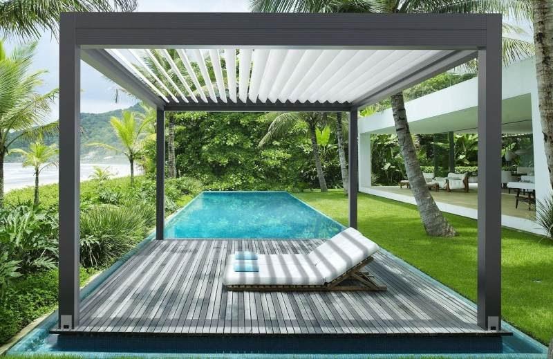 sonnenschutz mit terrassen berdachung sonnensegel markise und rollos 50 ideen frisch mobel. Black Bedroom Furniture Sets. Home Design Ideas