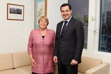 Juan Manuel Moreno Bonilla Y Michele Bachelet